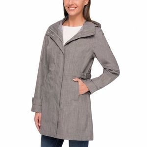 Women's Kirkland trench coat gray rain coat NWT